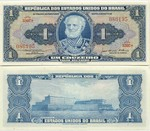 Brazil 1 Cruzeiro (1954-58) (3307A/0861xx) UNC