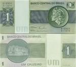 Brazil 1 Cruzeiro (1972-80) (serial # vary) AU