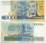 Brazil 100000 Cruzeiros (1985) (A10670333xxA) UNC