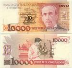Brazil 10 Cruzados Novos on 10000 Cruzados (1990) (A44710162xxA) UNC