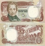 Colombia 500 Pesos Oro 1993 (461806xx) UNC