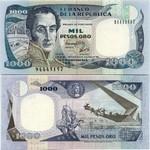Colombia 1000 Pesos Oro 1992 (944451xx) UNC