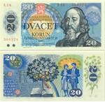 Czechoslovakia 20 Korun 1988 (E08 4038xx) UNC