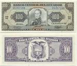 Ecuador 100 Sucres 4.12.1992 (WE 0535715x) UNC
