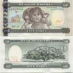 Eritrea 5 Nakfa 1997 (AA54001xx) UNC