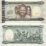 Eritrea 20 Nakfa 1997 (AA 90380xx) UNC