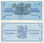 Finland 5 Markkaa 1963 (X68546xx) UNC