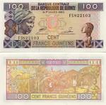 Guinea 100 Francs 1998 (FS8221xx) UNC