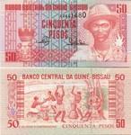 Guinea-Bissau 50 Pesos 1990 (AA0694xx) UNC