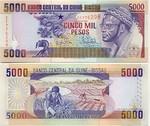 Guinea-Bissau 5000 Pesos 1993 (EF7762xx) UNC