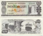 Guyana 20 Dollars (1989) (A/64 3508xx) UNC