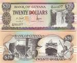 Guyana 20 Dollars (2002) Sig.12 (B/37 02314x) UNC