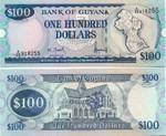 Guyana 100 Dollars (1999) Sig.11 (A/57 9077xx) UNC