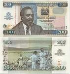 Kenya 200 Shillings 2003 (AU17685xx) UNC