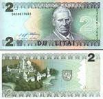 Lithuania 2 Litai 1993 (DAF934549x) UNC