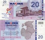 Lithuania 20 Litu 2004 Maxima (DDD Nr. 069xxx) UNC