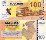 Lithuania 100 Litu 2004 Maxima (MMM Nr. 0017xx) UNC