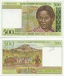 Madagascar 500 Francs (1994-) (B827675xx) UNC