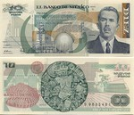 Mexico 10 Nuevos Pesos 1992 (D/G9685500) UNC