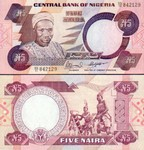 Nigeria 5 Naira 2001 UNC