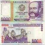 Peru 5000 Intis 1988 (A44835xxW) UNC