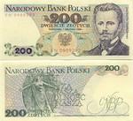Poland 200 Zlotych 1988 UNC