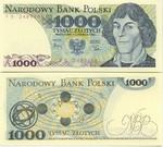 Poland 1000 Zlotych 1982 UNC