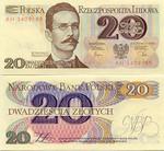 Poland 20 Zlotych 1982 UNC