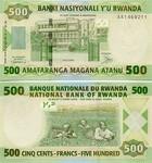 Rwanda 500 Francs 2004 UNC