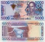 Sierra Leone 5000 Leones 2002 (N798231) UNC