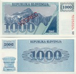 Slovenia 1000 Tolarjev 1992 SPECIMEN (AN92021923) UNC