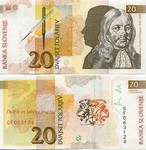 Slovenia 20 Tolarjev 1992 (GF0631xx) UNC