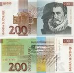 Slovenia 200 Tolarjev 2004 UNC