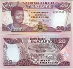 Swaziland 20 Emalangeni 1997 UNC