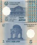 Tajikistan 5 Diram 1999 (2000) (BB91053xx) UNC