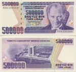 Turkey 500000 Lira (1998) UNC