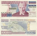 Turkey 1 Million Lira (2002) UNC