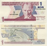 Turkey 1 Lira 2005 (A63/827337) UNC