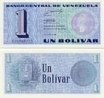 Venezuela 1 Bolivar 1989 UNC
