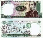 Venezuela 20 Bolivares 1987 UNC