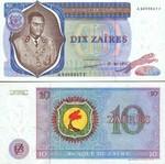 Zaire 10 Zaires 1977 (A 5056126 G) AU-UNC