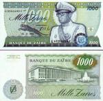 Zaire 1000 Zaires 1985 UNC