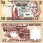 Zambia 5 Kwacha (1980-88) UNC