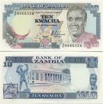 Zambia 10 Kwacha (1989-91) UNC