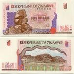 Zimbabwe 5 Dollars 1997 (BV30115xx) UNC