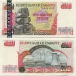 Zimbabwe 500 Dollars 2001 UNC