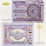 European Union 1 Million Euro 2000 (not real money) UNC