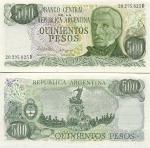 Argentina 500 Pesos (1977-82) (20.295.8xxD) UNC