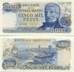 Argentina 5000 Pesos (1977-83) (Series B) UNC
