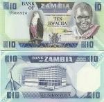 Zambia 10 Kwacha (1986-88) (128/D 9069xx) UNC